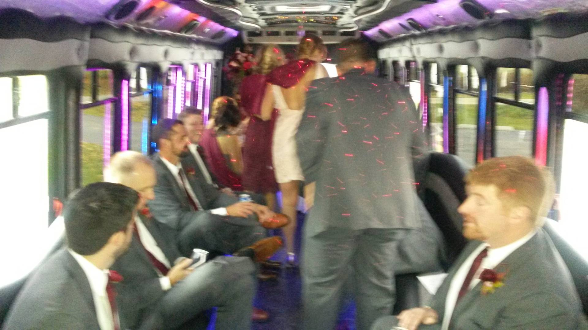Loading up to go in the #7 Limo Bus