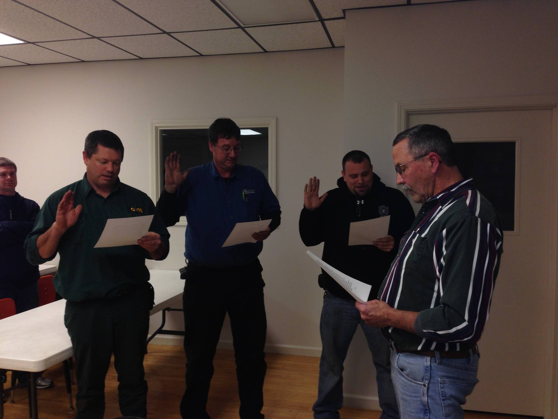 Swearing in of new Officers