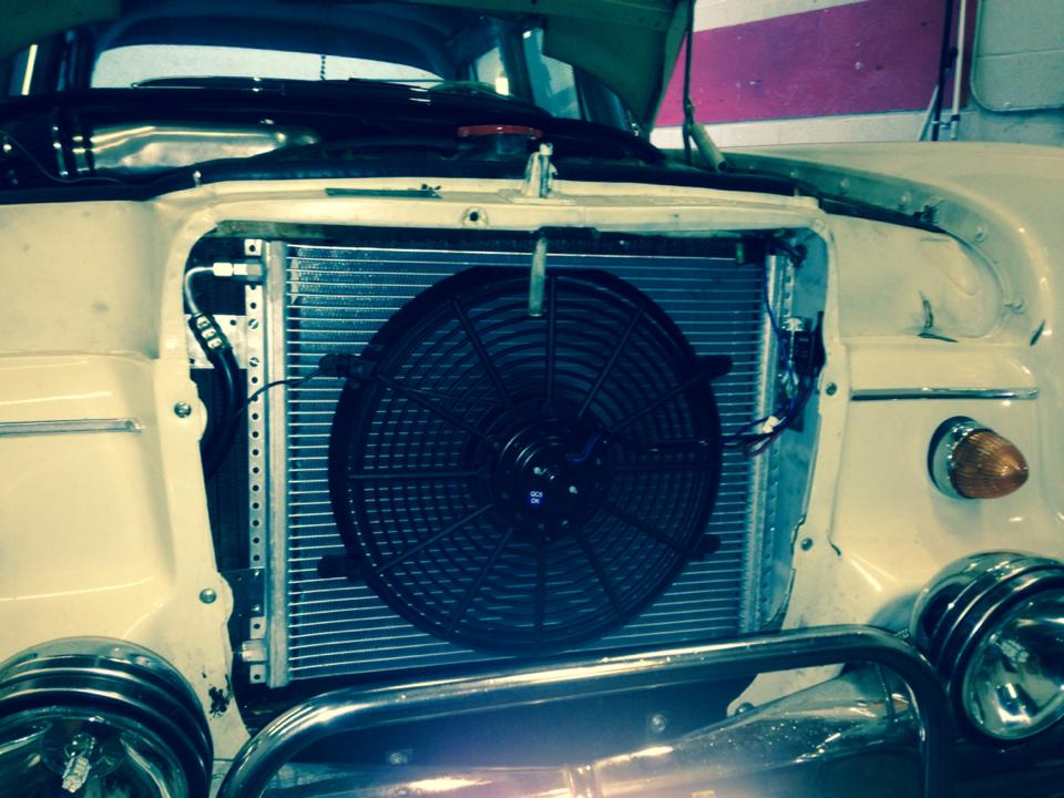 condenser and fan