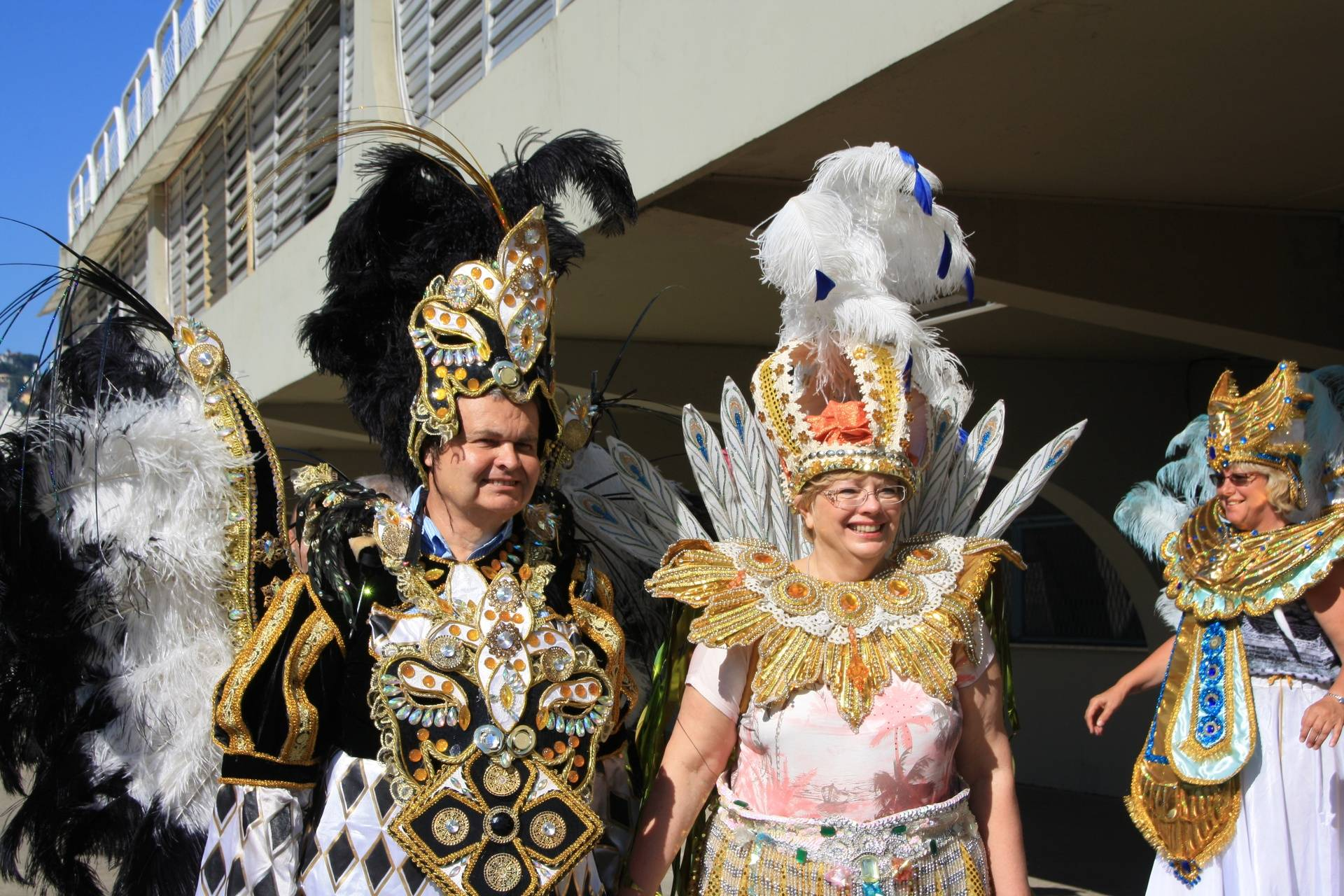 Lynda and Randy - Dressing for Carnival in Rio