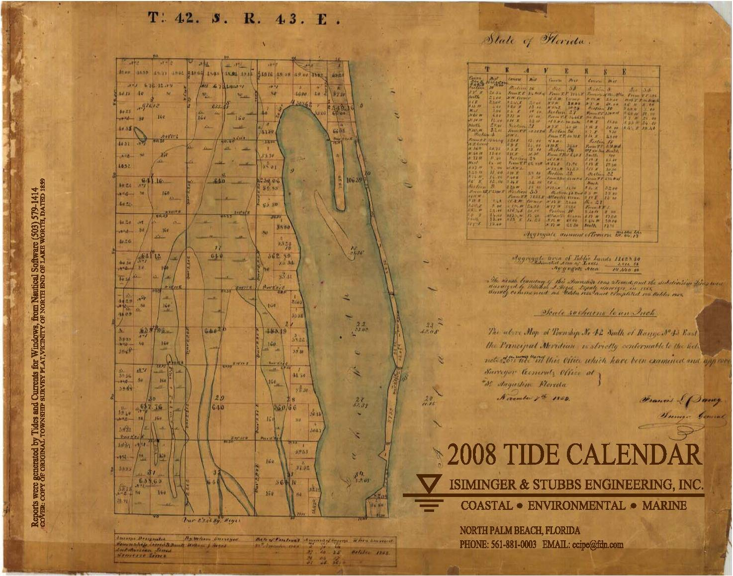 2008 Tide Calendar Cover