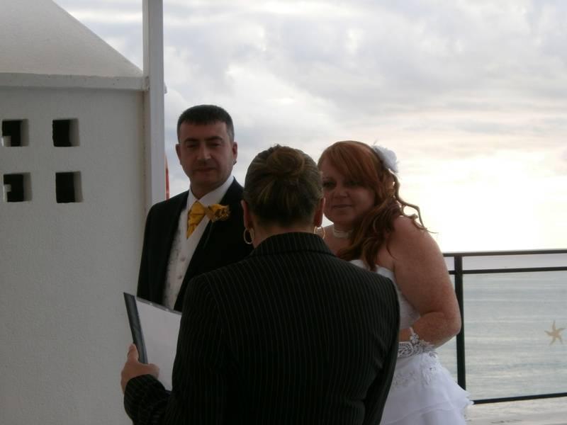 Reading the ceremony