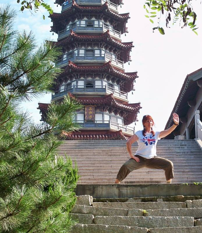 Posing at Tashan Pagoda