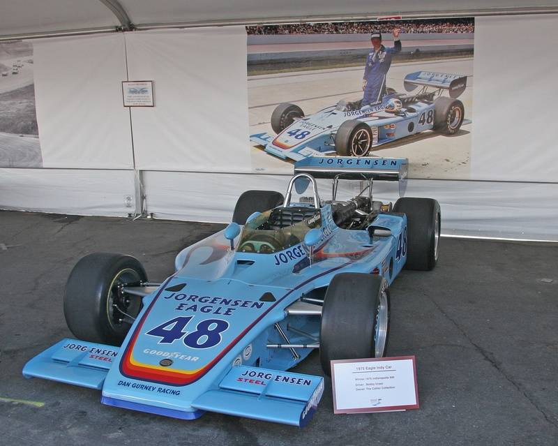 1975 Indy 500 winning Eagle driven by Bobby Unser