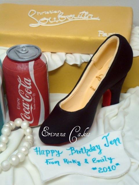 Louboutin Shoe and Can Coke Cake (SP002)