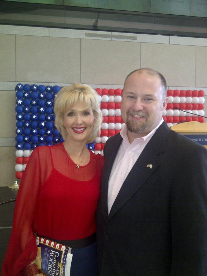 Kevin with Janine Turner