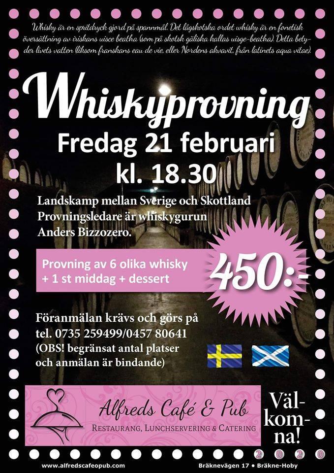 """Whiskyprovning """"Sverige-Skottland"""""""