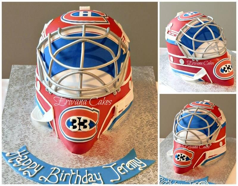 Patrick Roy Goalie Mask / Montreal canadien helmet Cake
