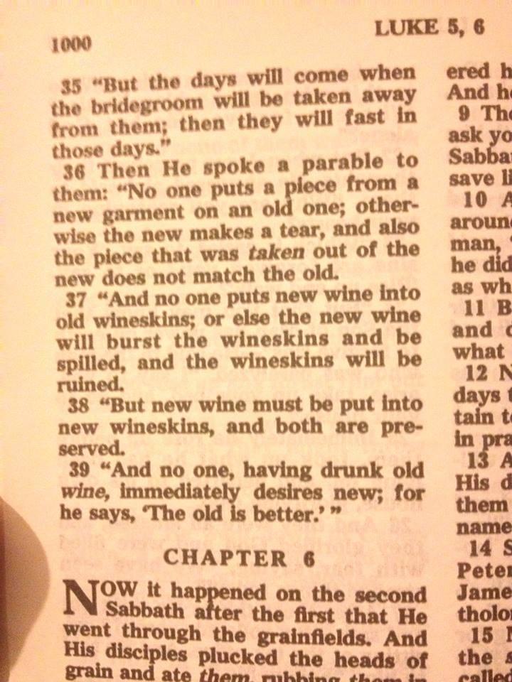 Luke 5:37