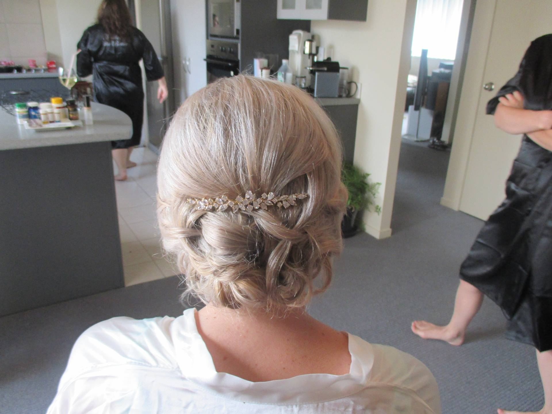 Back view of wedding hair
