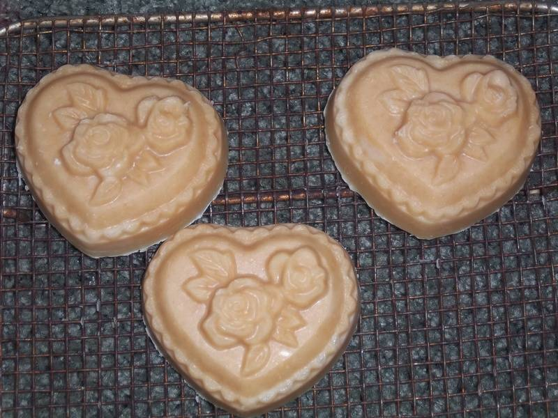 Heart with Roses Goat Milk Soap