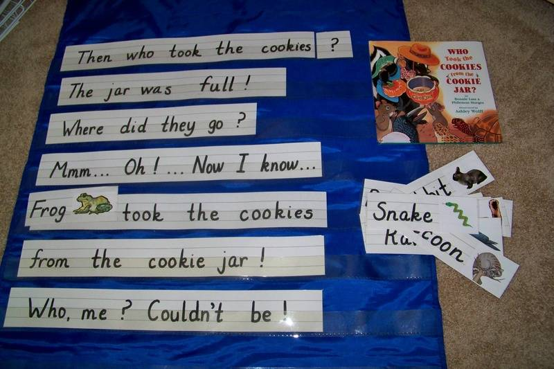 Pocket chart activity that goes along with