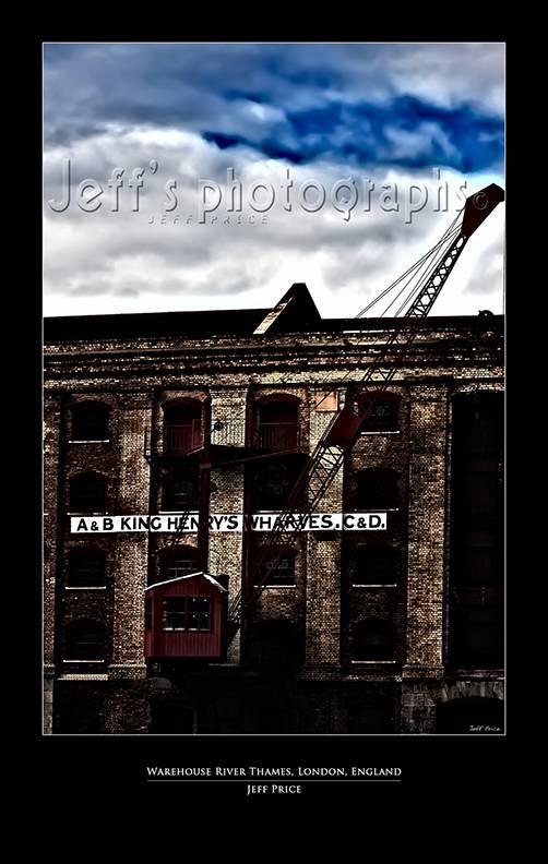 Warehouse River Thames, London, England