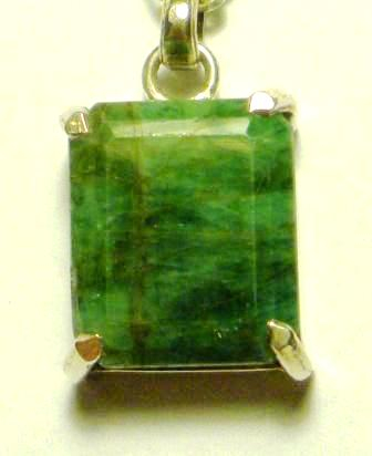 09-01223 Faceted Emerald Pendant
