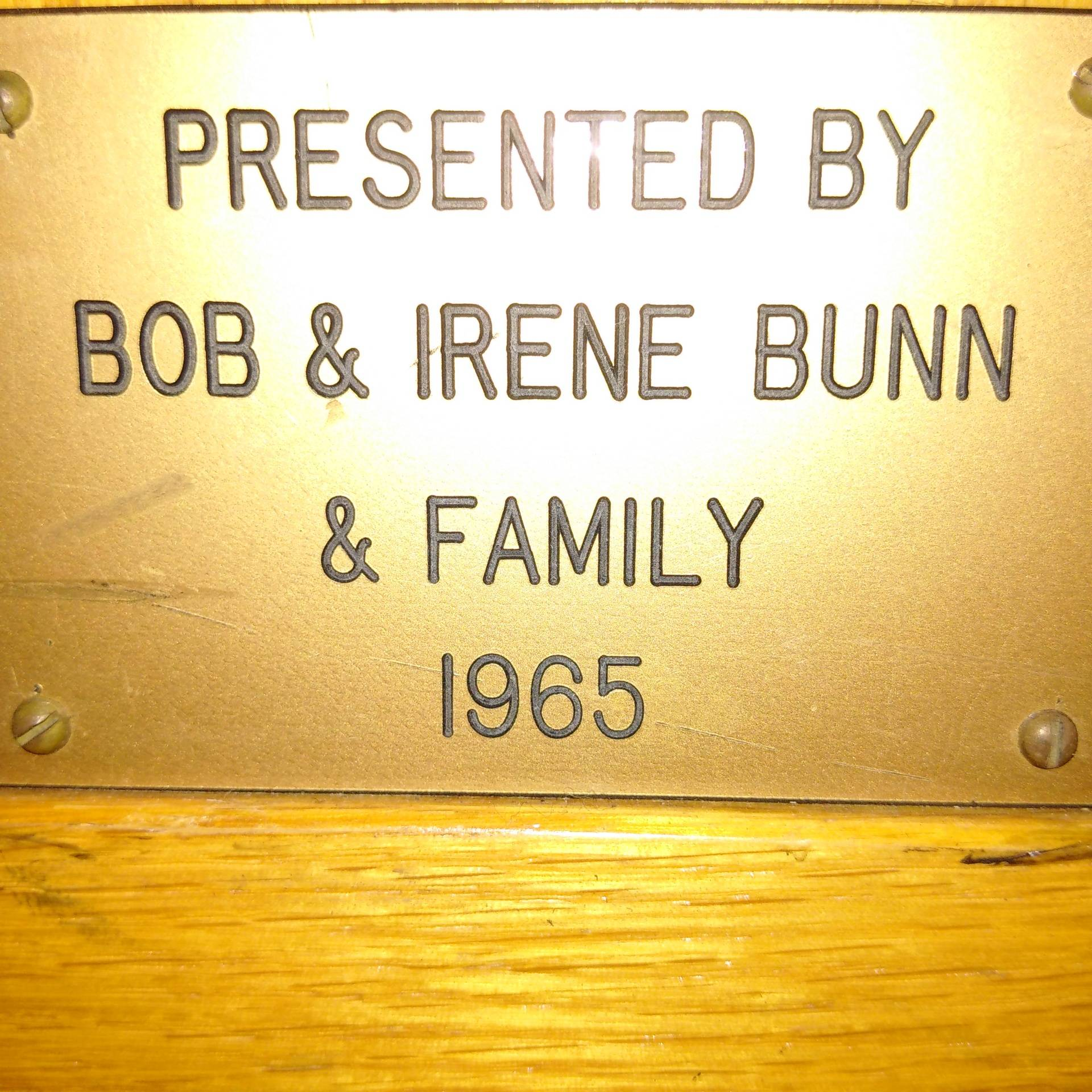 Bob & Irene Bunn and Family 1965