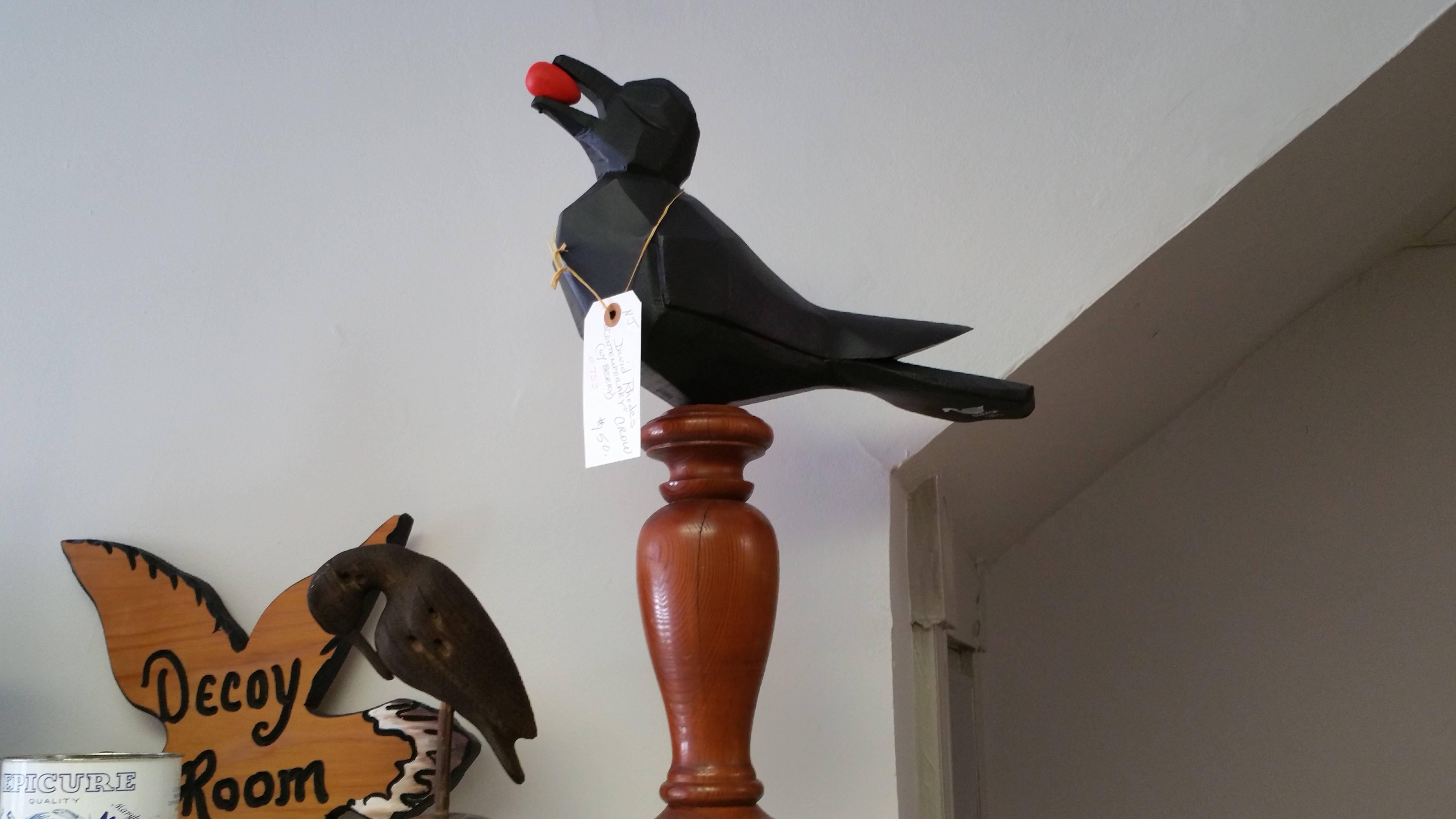 Unique Crow on Candlestick