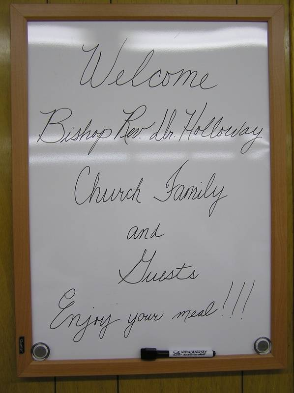 A Welcome for the Bishop and guests!