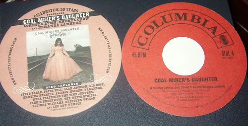 Coal Miners Daughter Tribute Drink Coaster