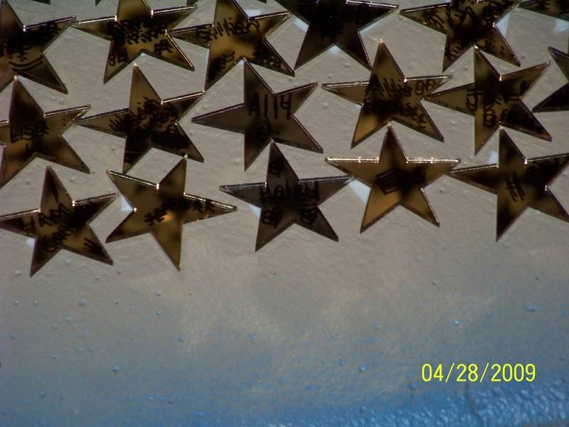 Each child gets to put a star on the ceiling at the Castle of Dreams
