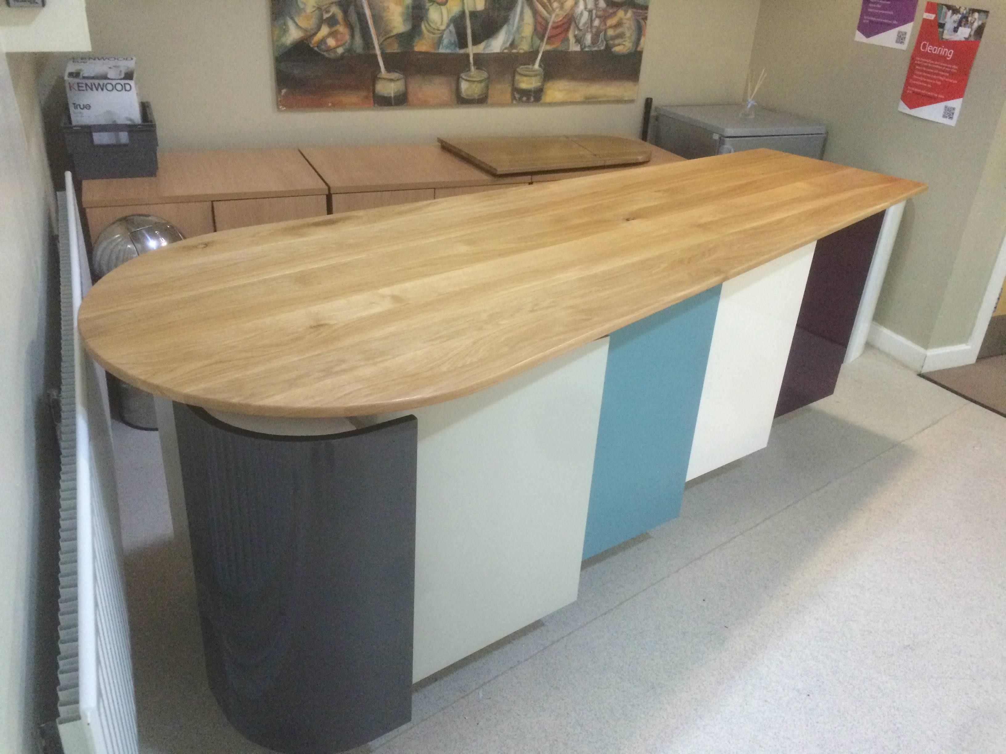 Bespoke kitchen unit for school.