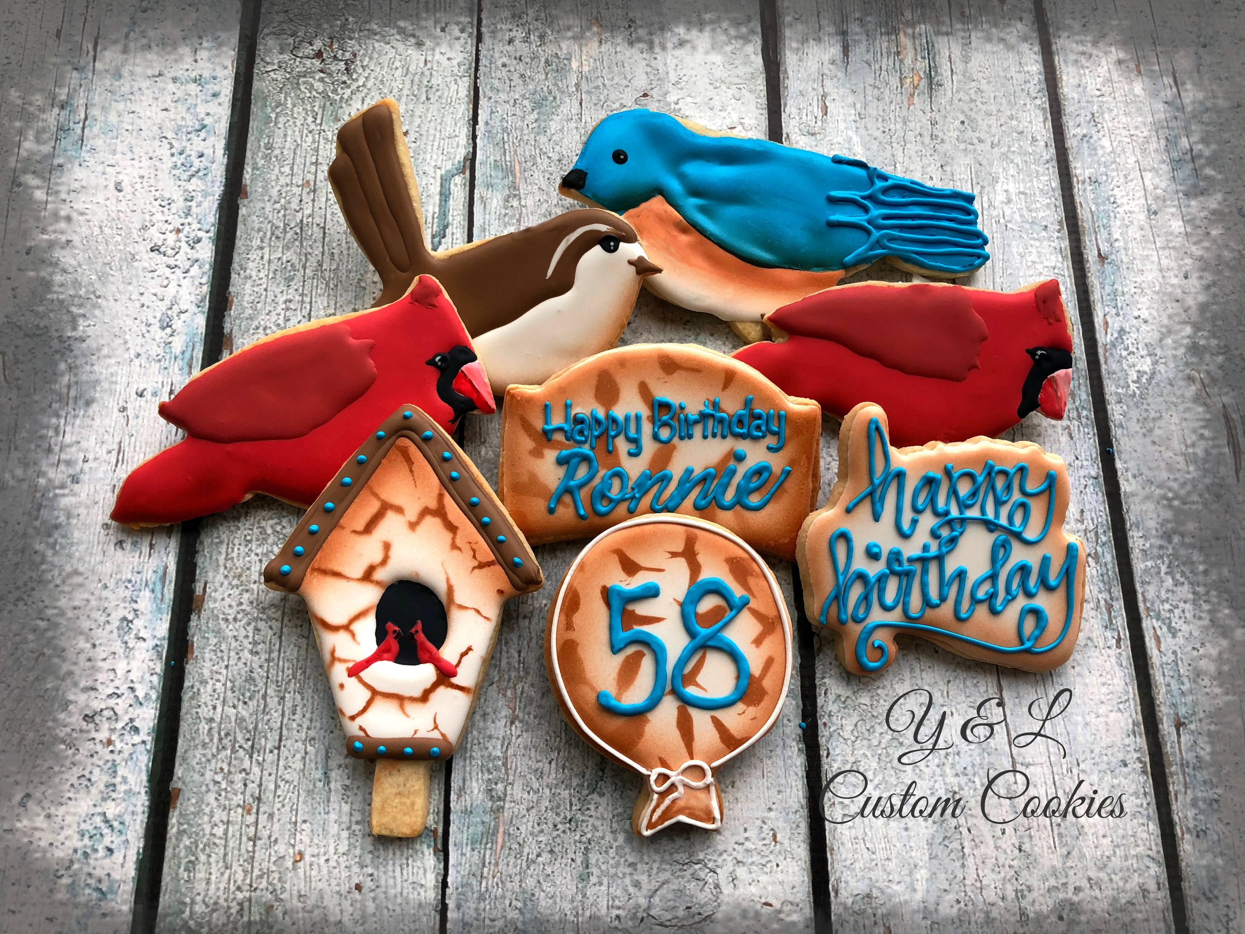 Birthday Cookies Birds Theme