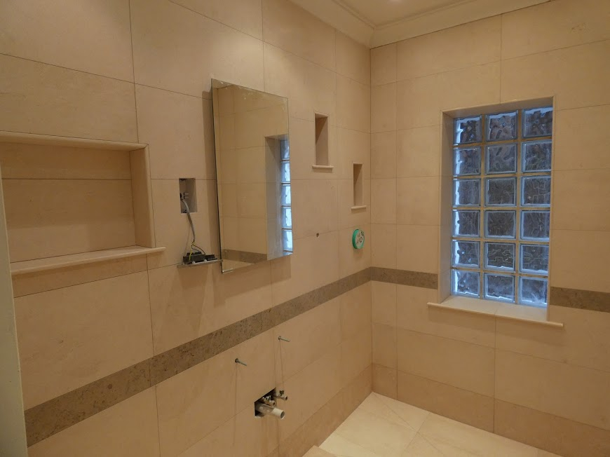 Natural stone wetroom