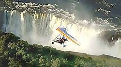 We flew over Victoria Falls