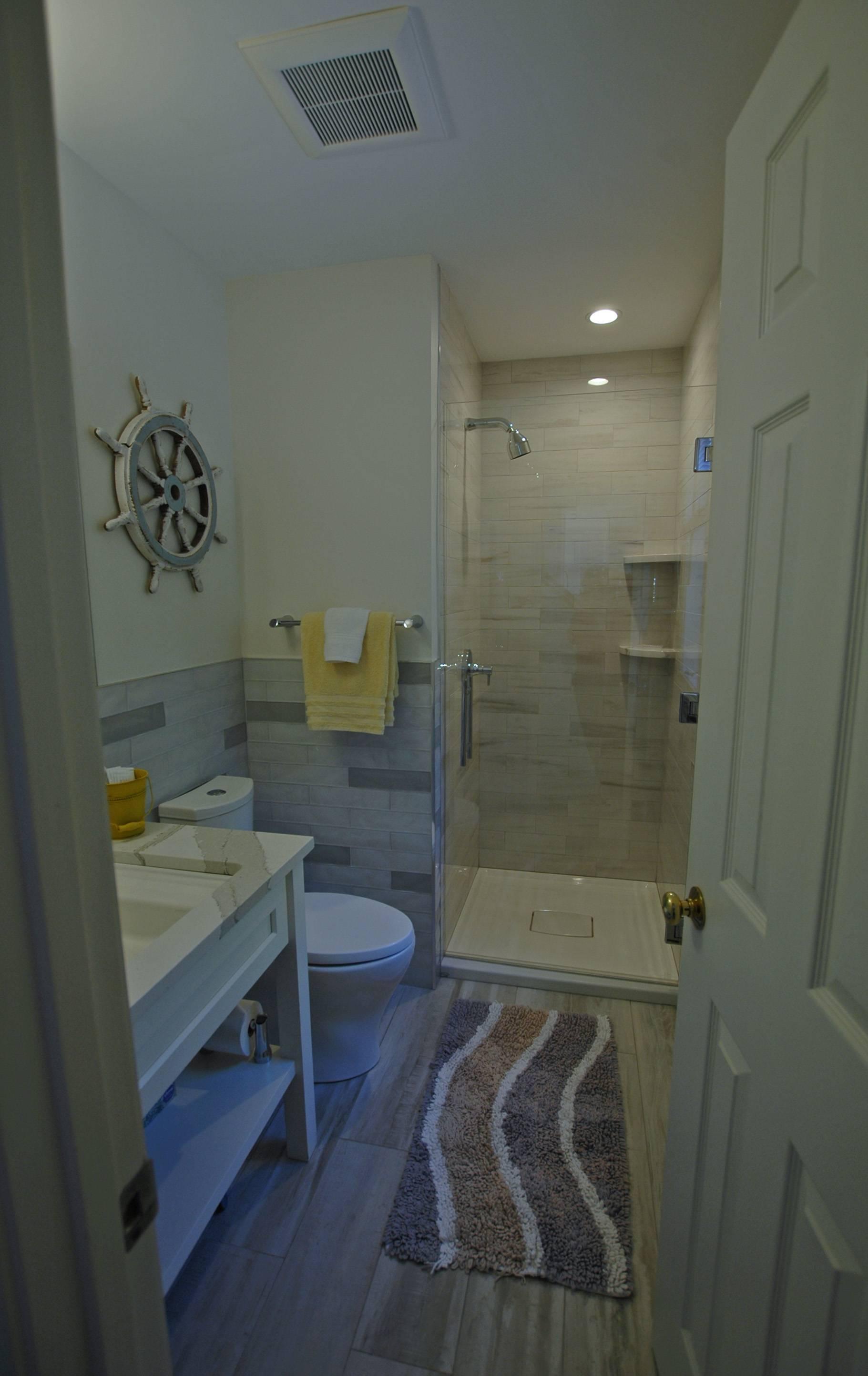 First floor bath with shower.