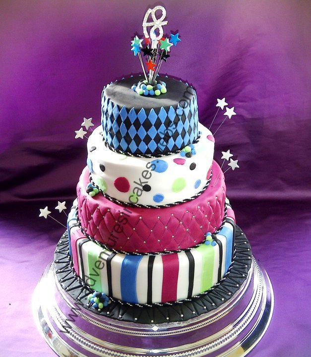 4 tier 18th birthday cake