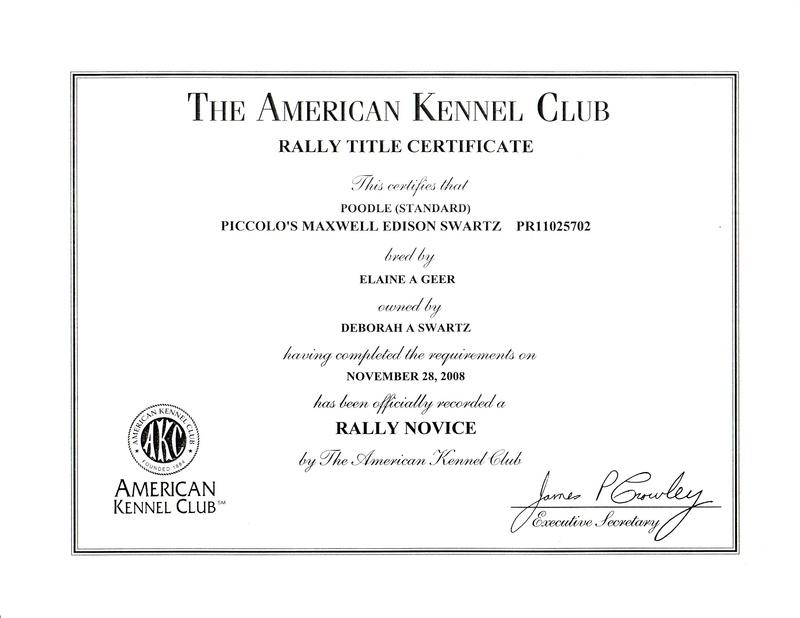 Maxwell RN title certificate
