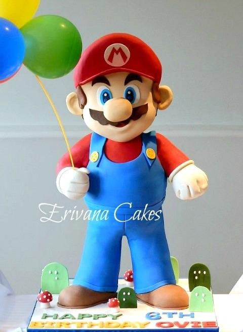 Gravity Defying - 3d Mario cake