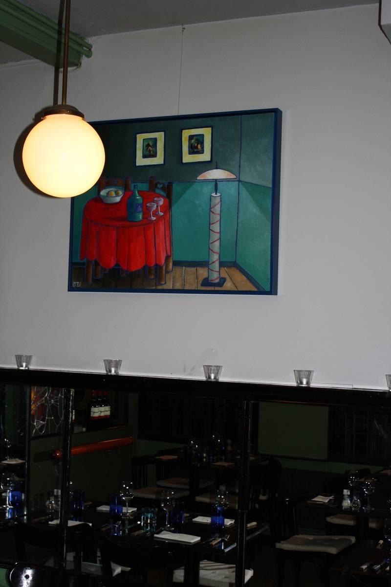 Wachten op bezoek bij Restaurant De Goede Mannen in Haarlem
