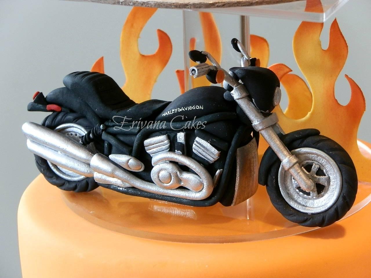 Gumpaste Harley davidson Motorcycle Cake