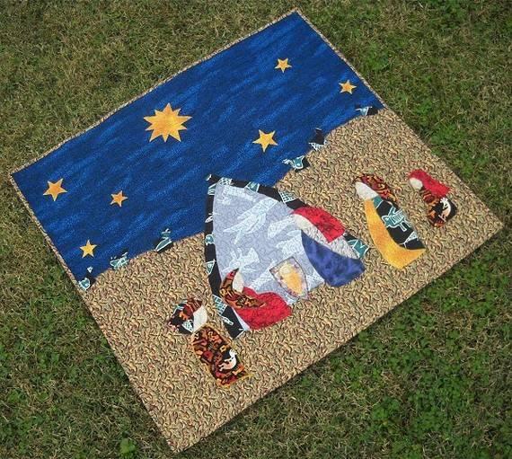 Primitive Nativity Quilt