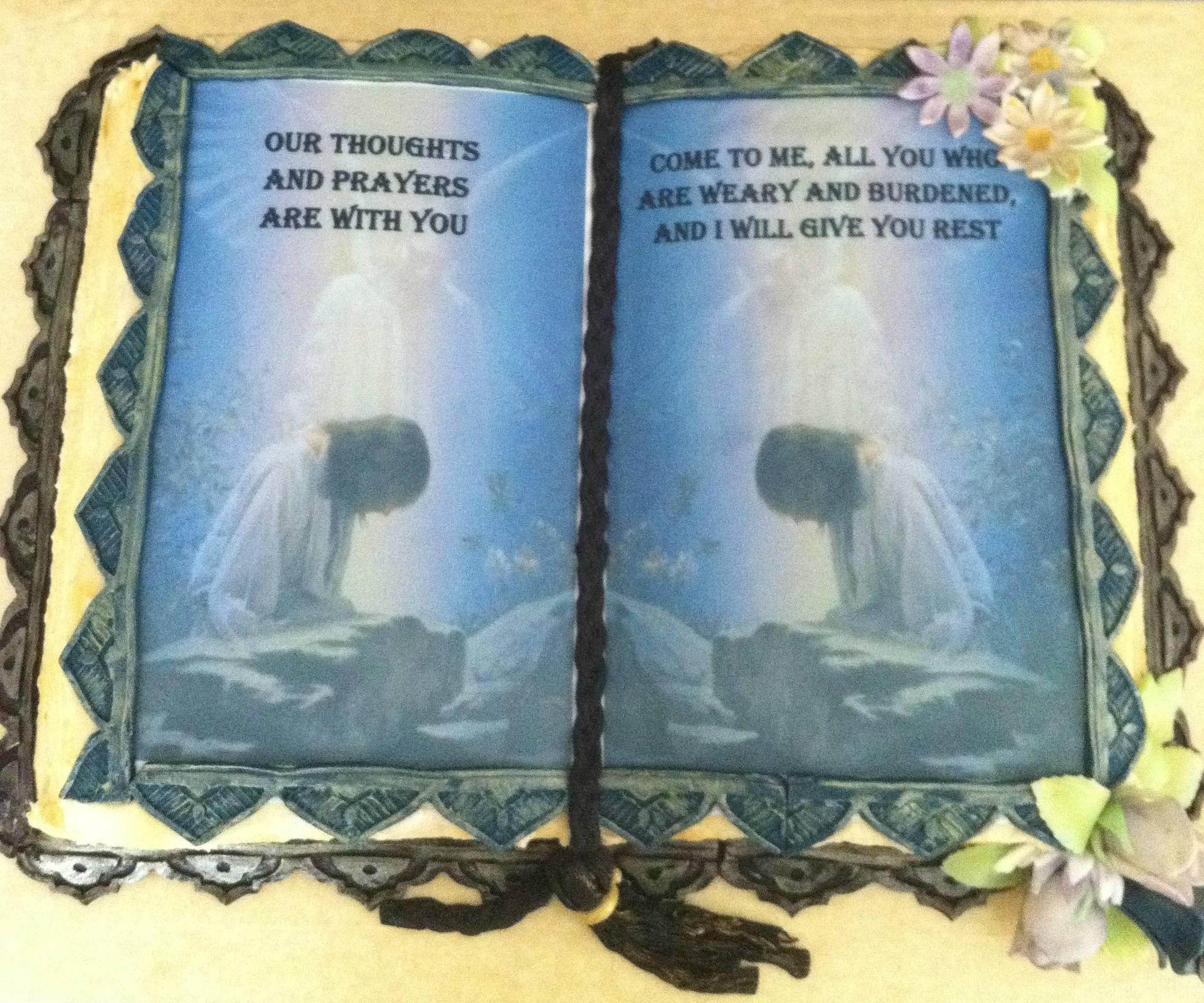 book cake prayer