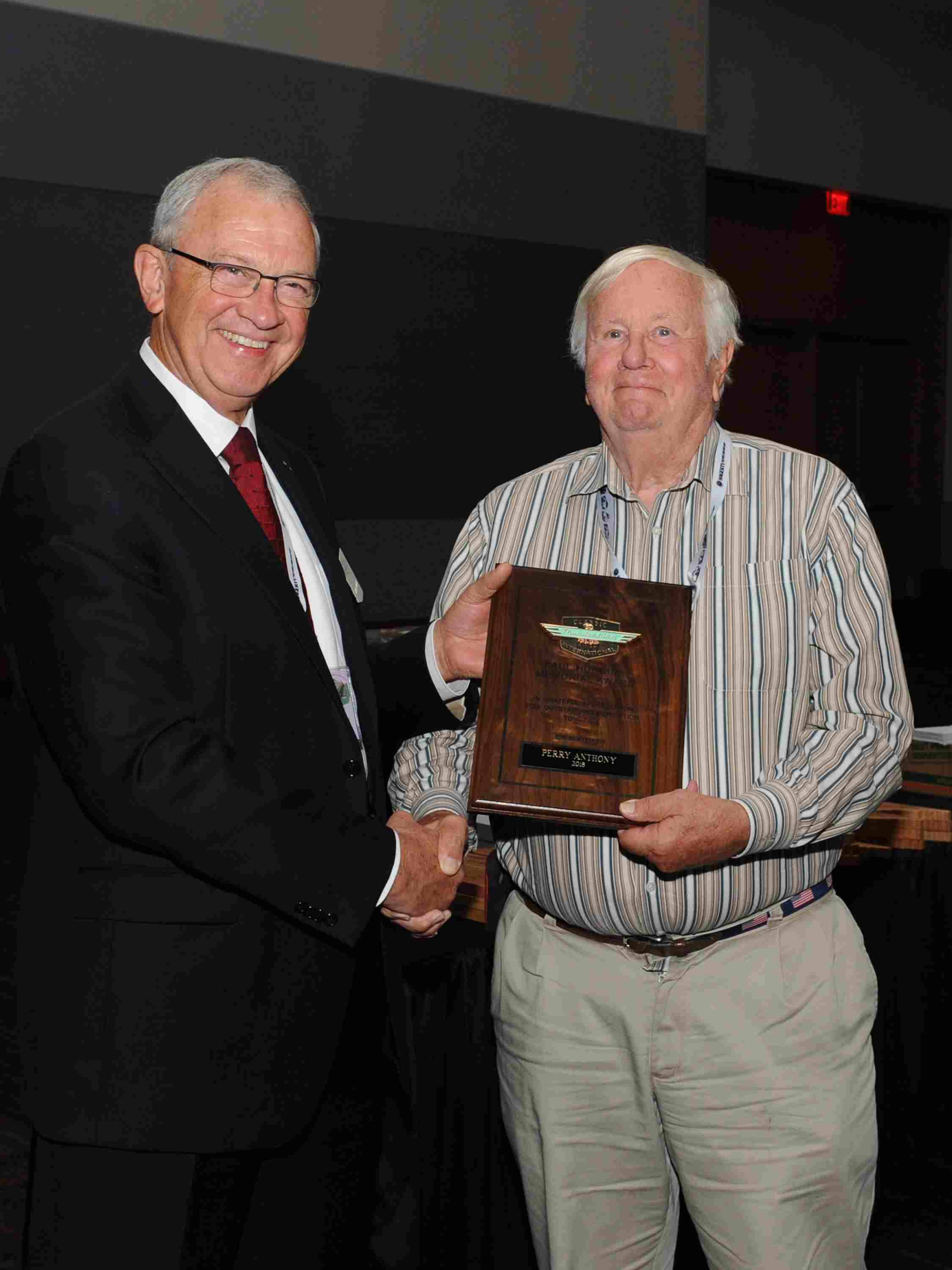 Perry Anthony wins Paul Hudgins Award