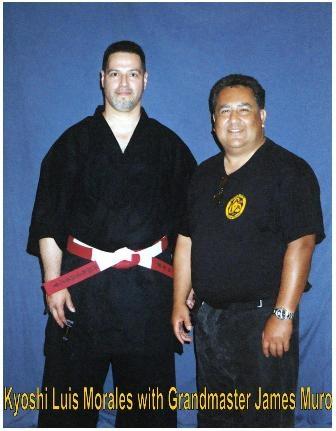 Kyoshi Morales with Hanshi James Muro