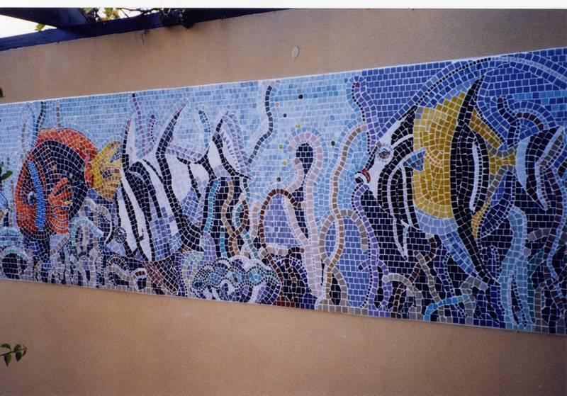 Tropical fish wall panel
