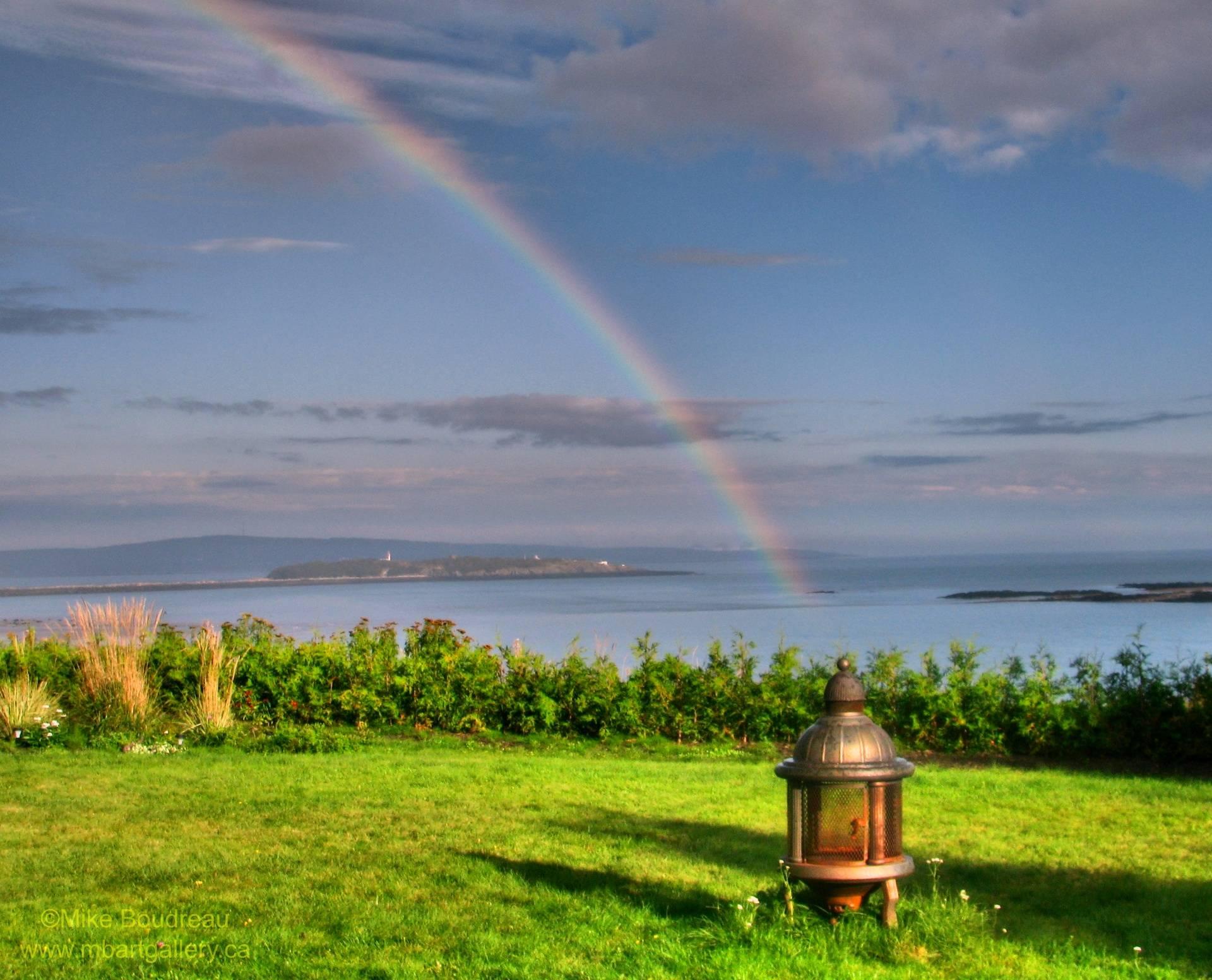 Rainbow over Partridge Island, Saint John NB