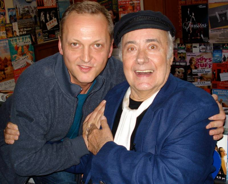 With Victor Spinetti, Edinburgh 2007