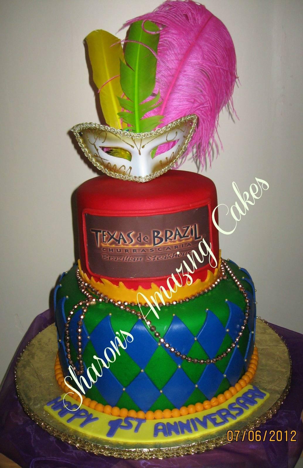Texas de Brazil 1st Anniversary Cake