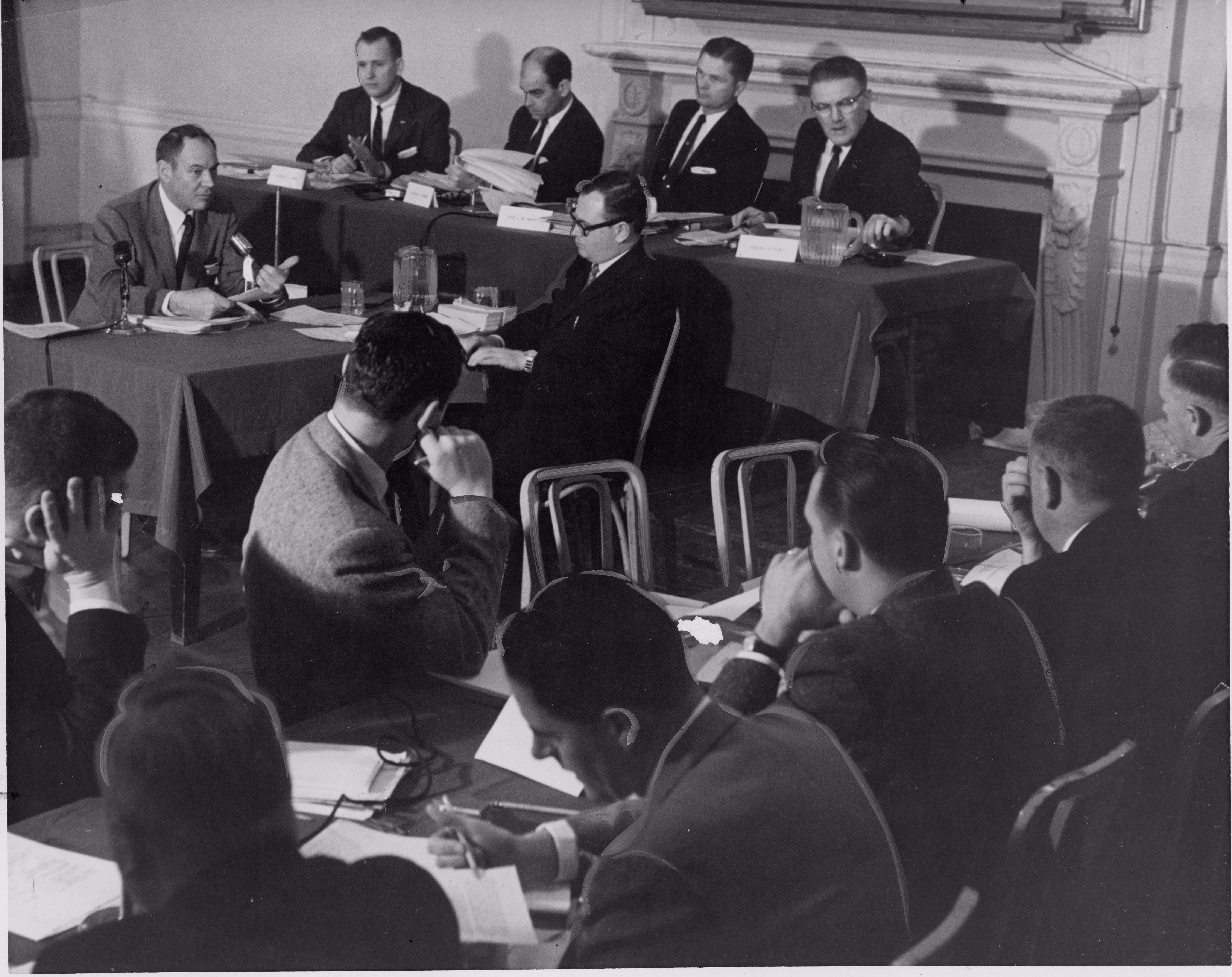 Public hearing on crash held at the Genetti hotel in Williamsport, Pa January 1960. Photo courtesy of the Williamsport Sun Gazette archive.