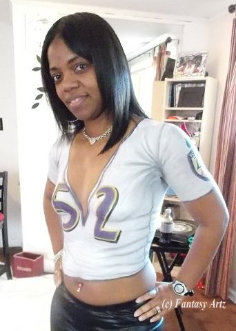 Ravens Body Painted Jersey