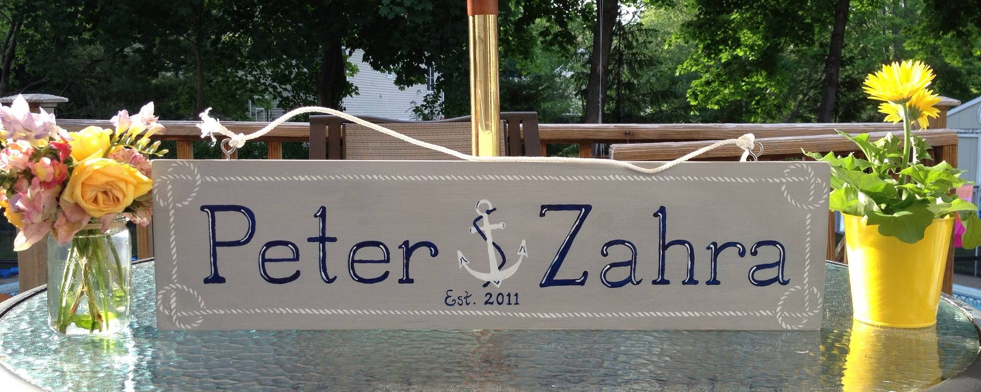Nautical name sign