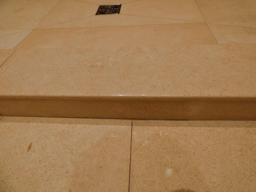 Limestone curb