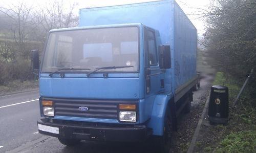 1980s Ford Cargo box van