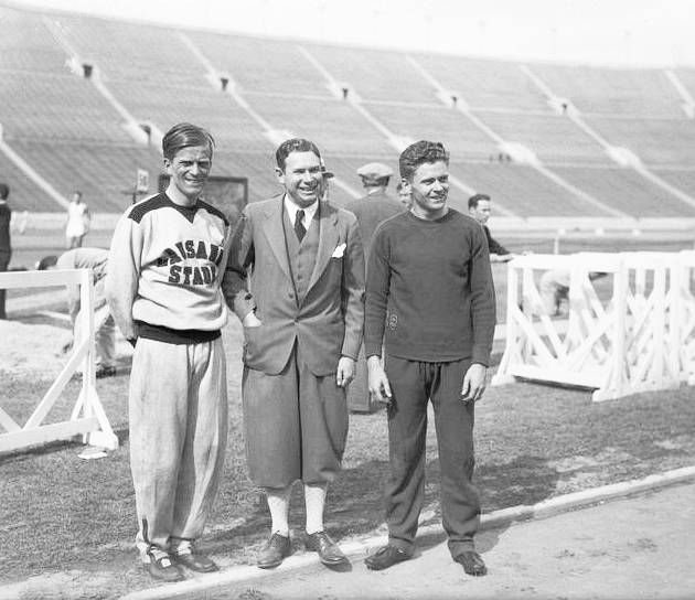 Dr. Paul Martin, Charley Paddock, and Frank Wykoff