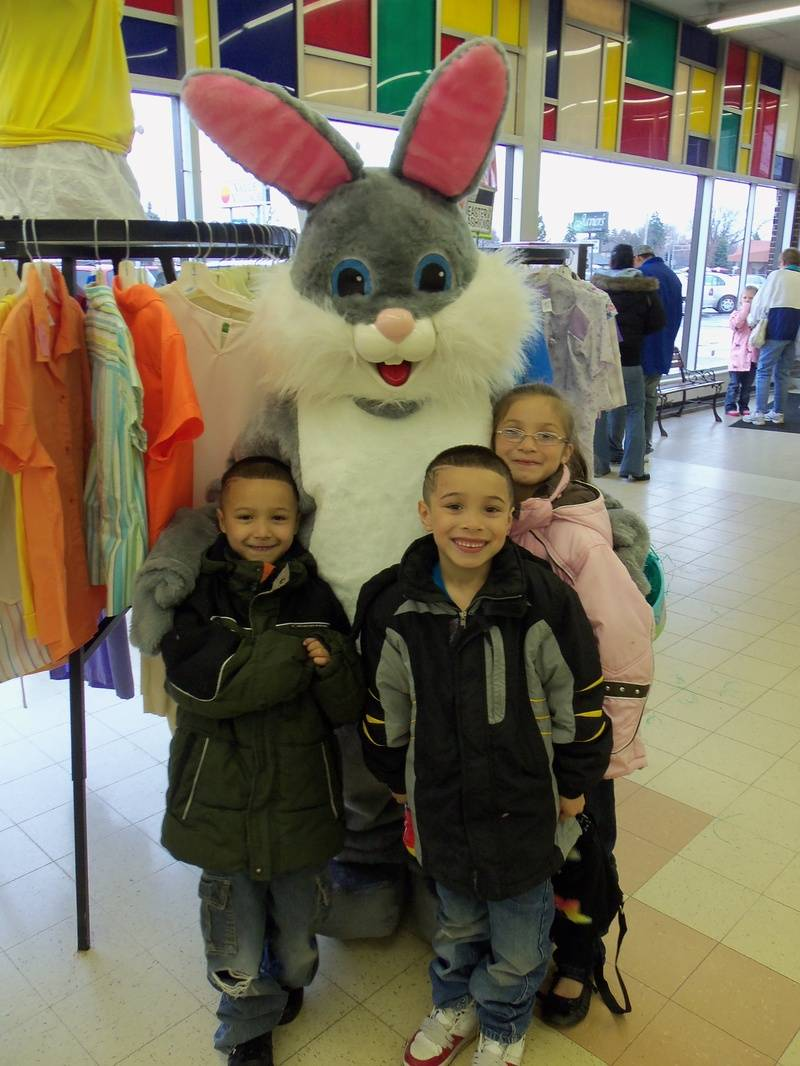 The Easter Bunny and his friends