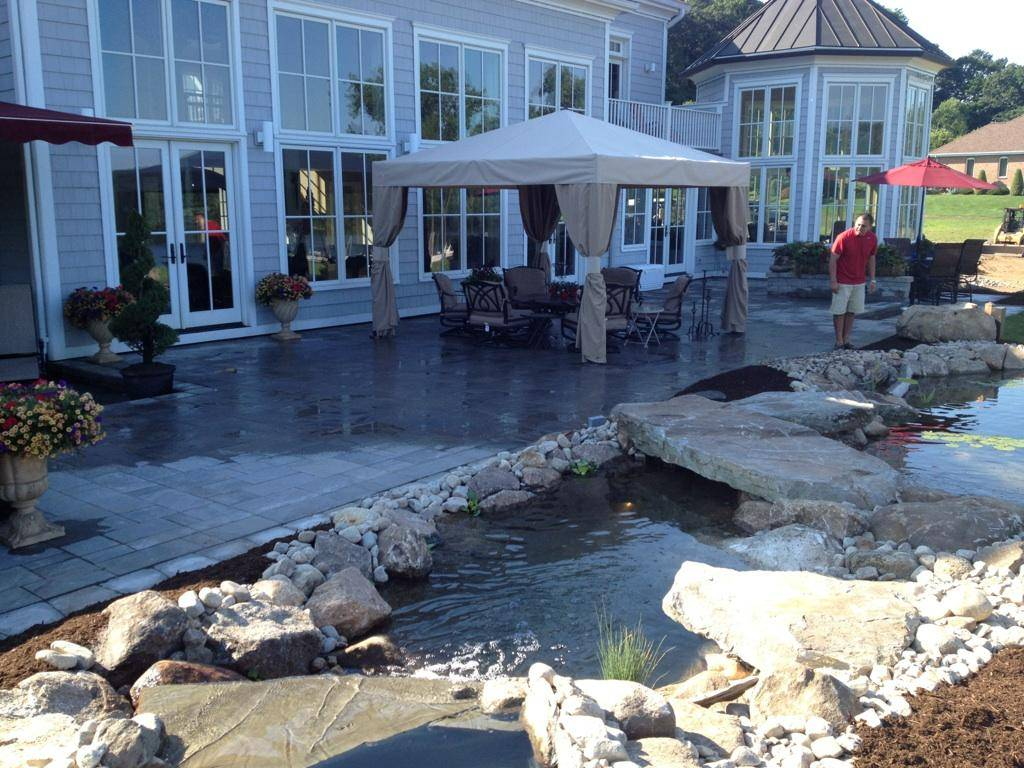 Patio and Waterscape