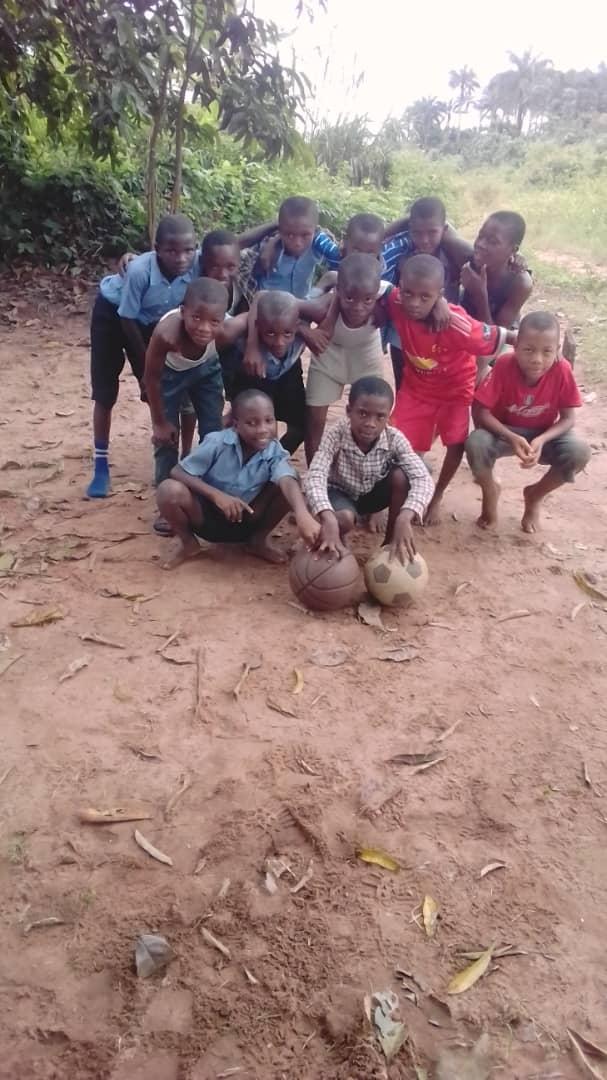 Boys ready for Football practice